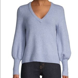 Madewell V-Neck Wool Blend Sweater Large